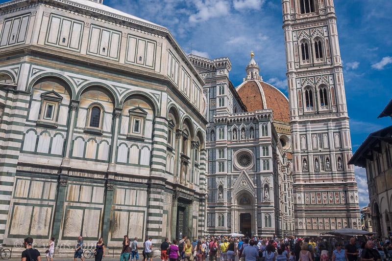 Florenz zu Ostern - der Dom mit dem Campanile und das Babtisterium