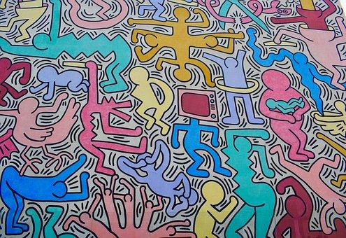 Pisa Tuttomondo Wandmalerei von Keith Haring