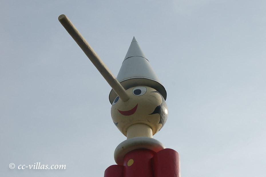 Lügen des Pinocchio - lange Nase