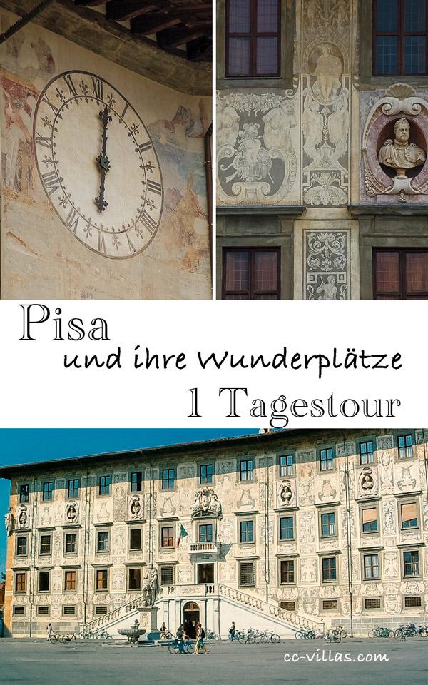 Pisa Toskana - Piazza dei Cavalieri und Palazzo dell´Orologio