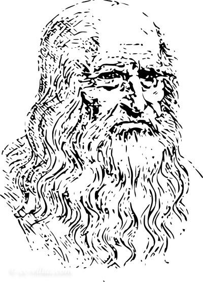 Leonardo da Vinci Museum - Leonardo da Vinci Selbstporträt - Selbstbildnis
