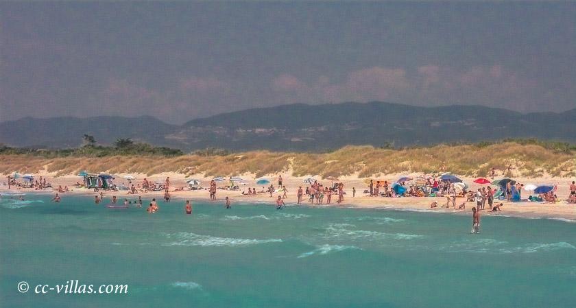 Meer bei Lucca und Pisa - freier Strand