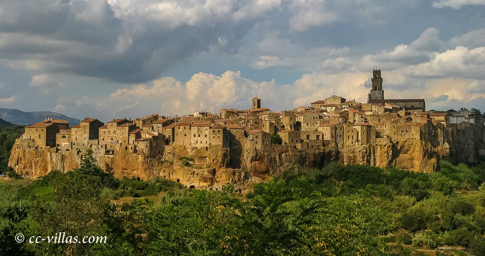 Pitigliano Maremma city view