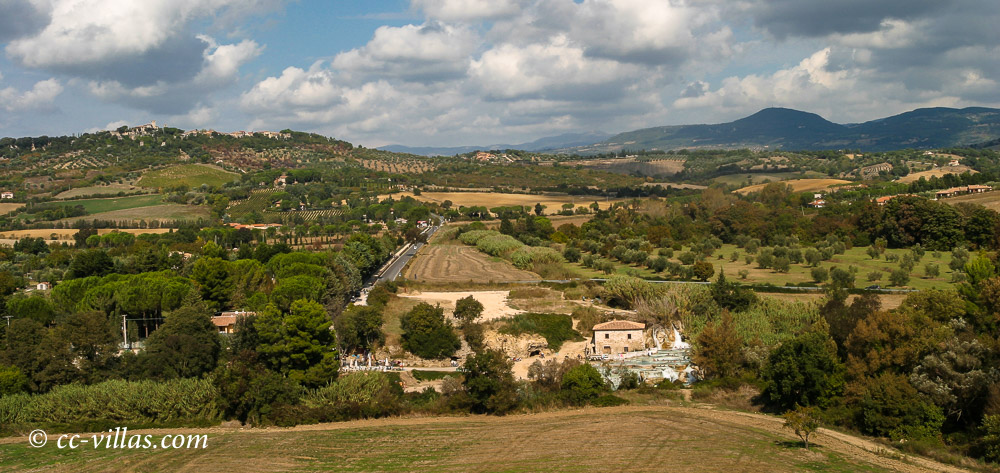 Saturnia Maremma - view towards the city and Georelle