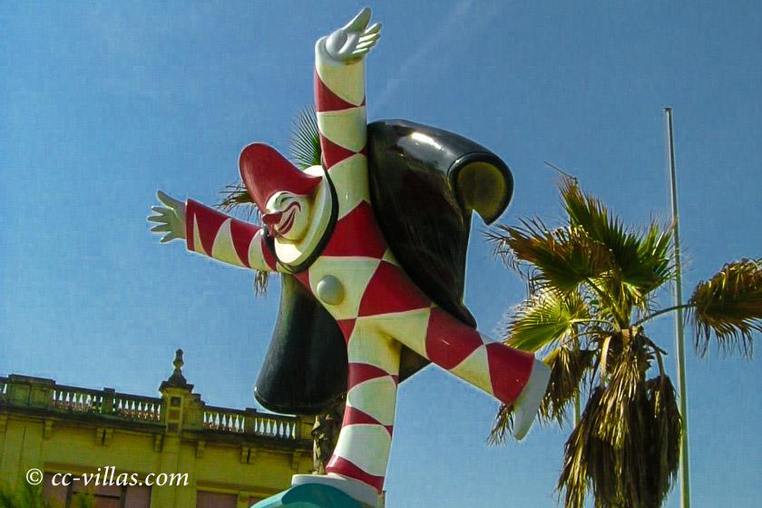 Viareggio Karneval - der Burlamacco das Maskottchen