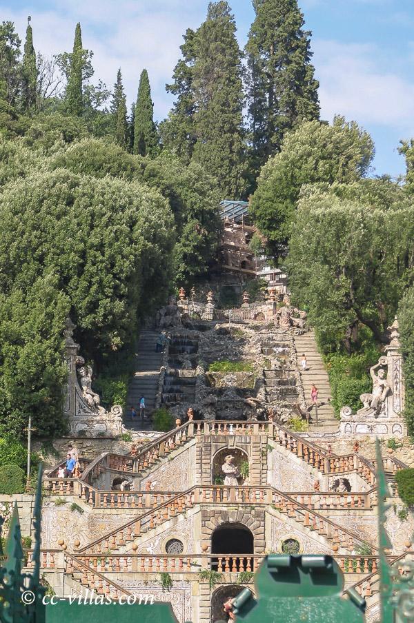 Pinocchio Park Collodi - Villa Garzoni hängende Gärten und Wasserläufe