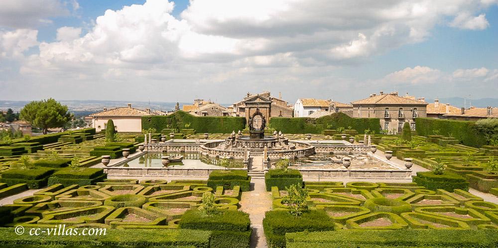 Villa Lante in Bagnaia - the fountain in the Italian garden