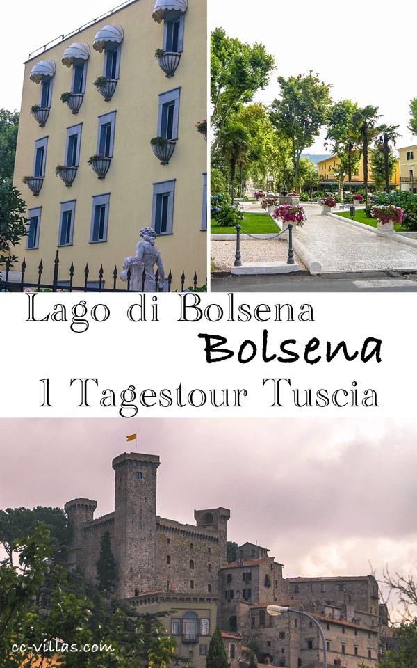 Bolsena Italien am Bolsenasee: Alt & Neu - die alte Festung und der Moderne Badeort