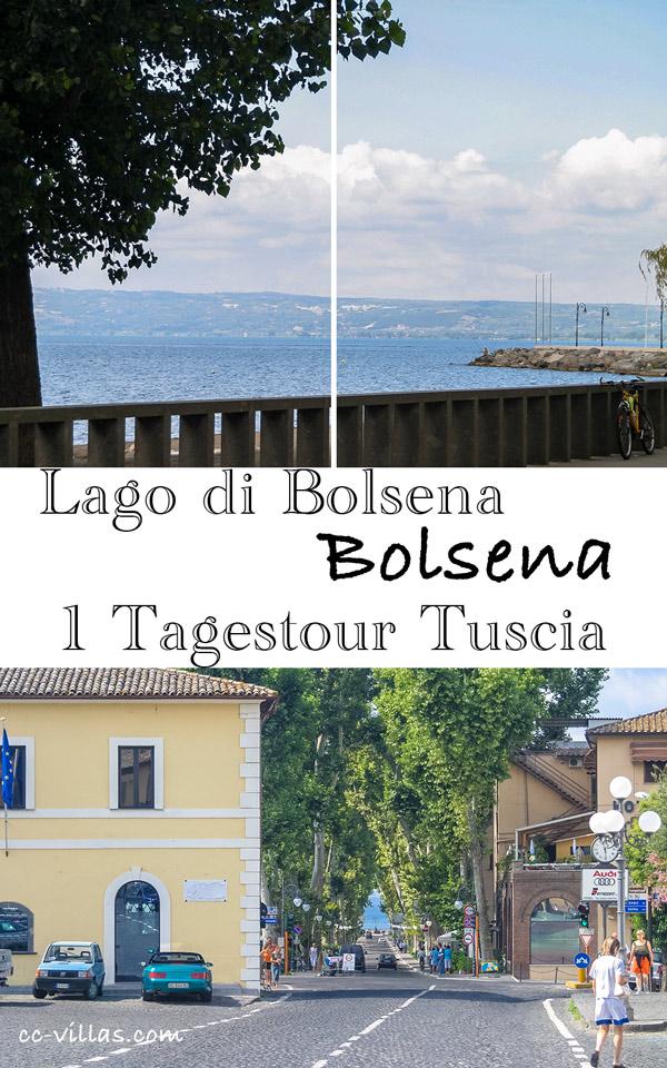 Bolsena Italien am Bolsenasee: Von der Stadt Blick auf den See