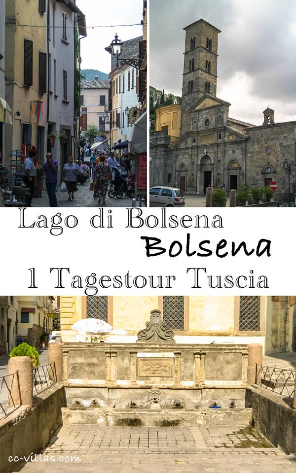 Bolsena Italien am Bolsenasee: Antiker Brunnen, die Wasserstelle der Stadt, Santa Christina
