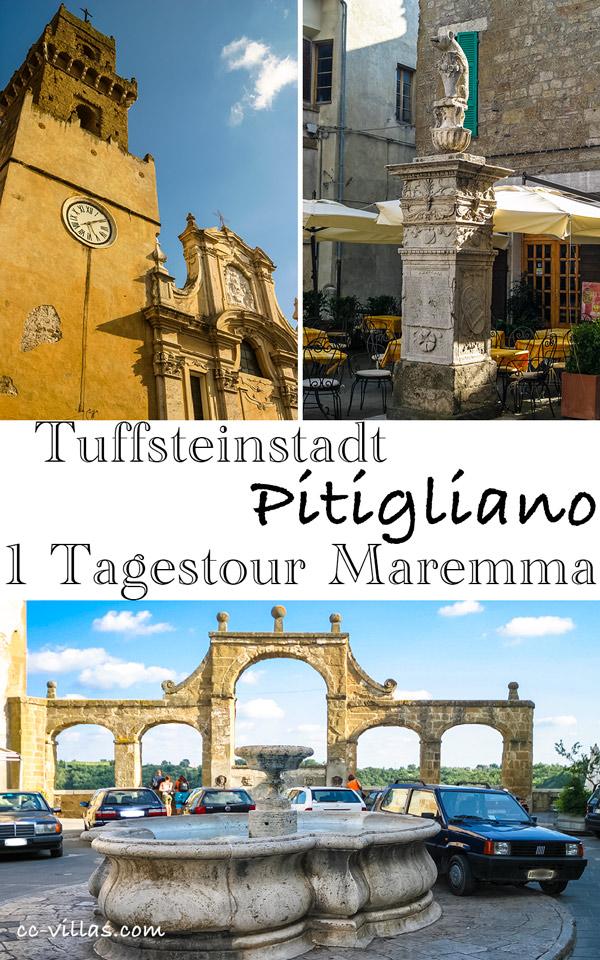 Pitigliano Tuffsteinstadt in der Maremma, Tuscia Renaissance und Barock - der Orsini Bär