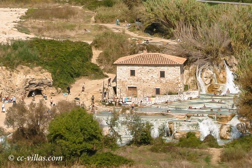 Saturnia Cascade del Molino - Zulauf des Thermenwasser