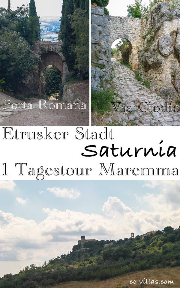 Saturnia - Porta Romana, Via Clodio die alte Straße von und nach Rom