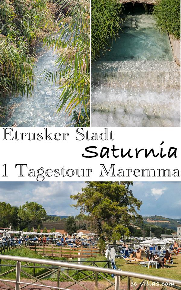 Saturnia der Thermenzufluss - Baden im Schilf - Teil der Thermenanlage
