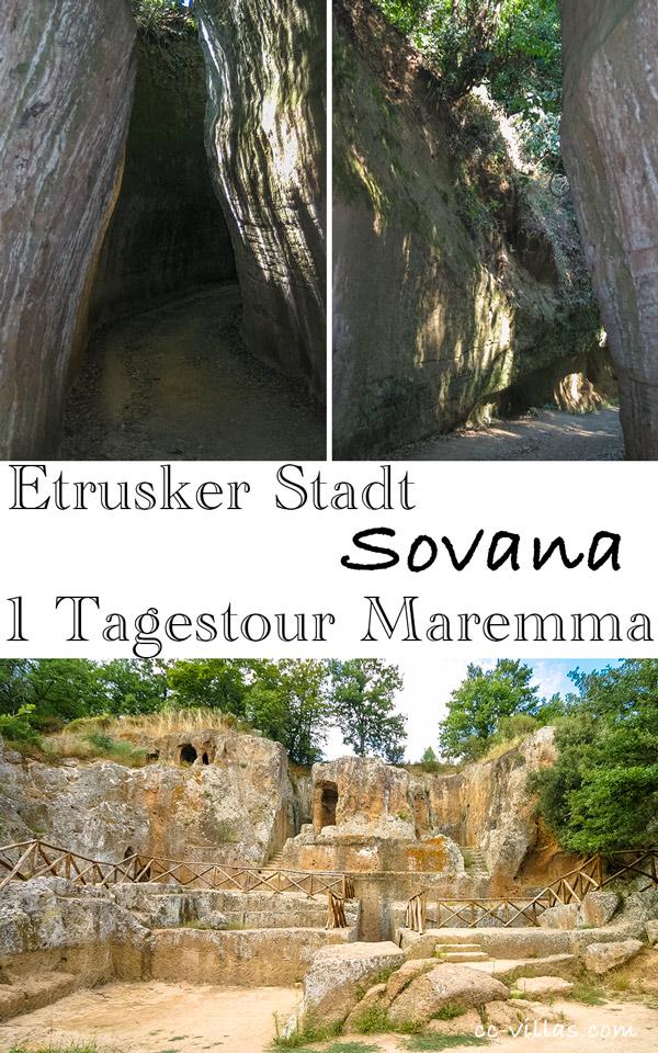 Sovana - Tuffstein Nekropole in der südlichen Maremma - Tomba Hildebranda und die Cavone