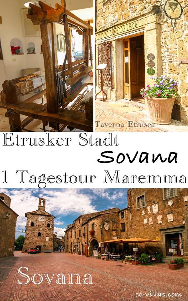 Sovana, Etrusker Stadt in der südlichen Maremma
