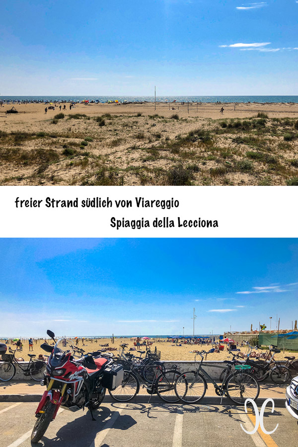 Meer bei Lucca und Pisa - freier Strand - Torre del Lago südlich von Viareggio