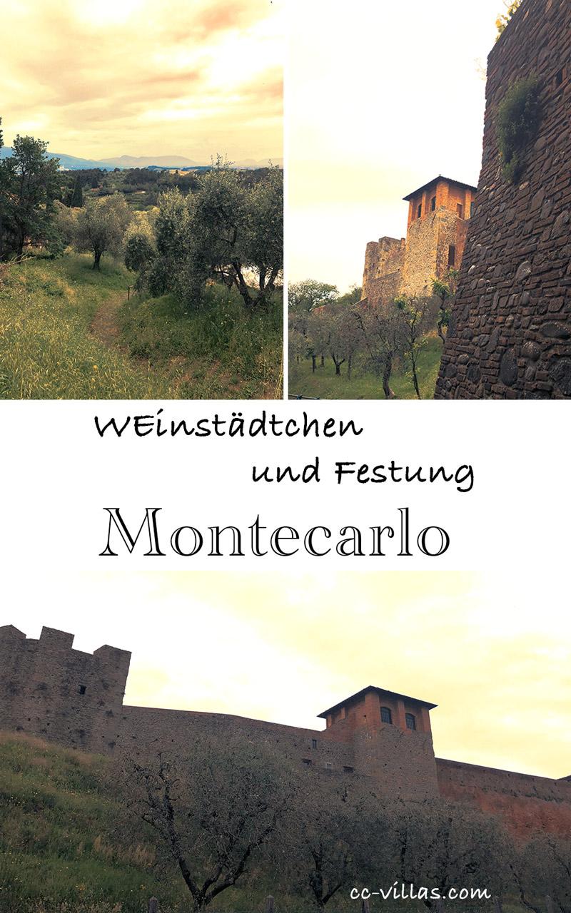 Montecarlo Toskana bei Lucca und die Festung Cerruglio