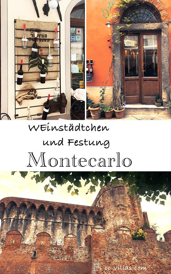 Montecarlo Toskana - Enothek, Osteria und die trutzige Festung Cerruglio