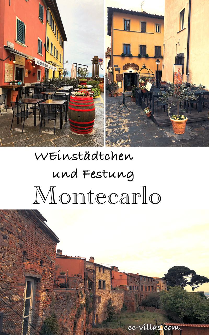 Montecarlo Toskana - auf der Piazza Carrara und Teile der Stadtmauer