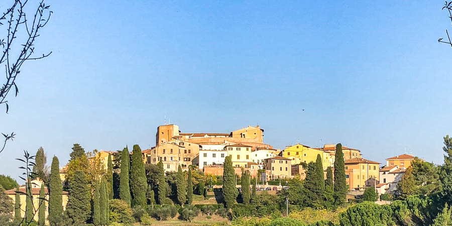View of Town Lari, Pisa, with the Castell dei Vicari