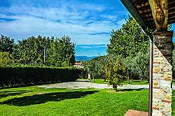 Small Tuscany Cottage with private pool - View  towards the Garfagn